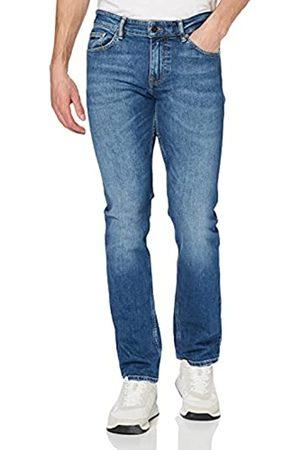 HUGO BOSS Herren Delaware BC-C Slim-Fit Jeans aus Stretch-Denim in Used-Optik