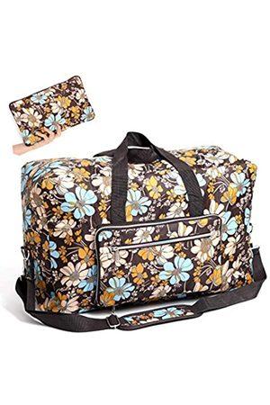 WFLB Große, faltbare Reisetasche für Frauen, Krankenhaus-Tasche, niedliches Blumenmuster, Handtasche, Schultertasche, Weekender, über Nacht