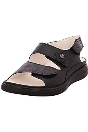 Romika Damen Sandalen - Damen Ibizia Home 316 Pantoffeln, Noir (Noir)
