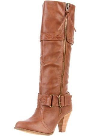 Not Rated Damen Overknees - Wild West Damen Kniehohe Stiefel, (hautfarben)