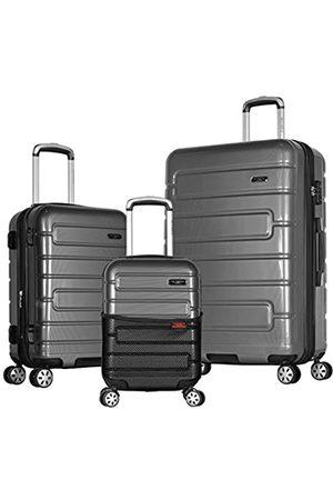 Olympia Nema 3-teiliges Exp. Hardcase Spinner Koffer-Set mit TSA-Schloss - HE-8000-3-BK