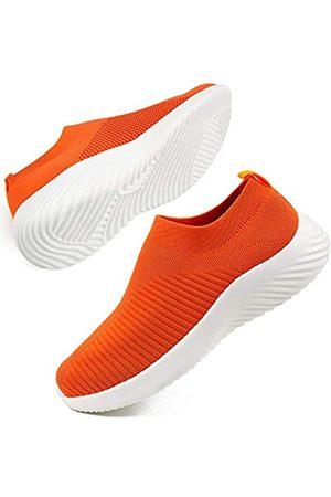 DUOYANGJIASHA Damen Athletic Walking Schuhe Stoff Atmungsaktiv Slip On Sport Tennis Running Mesh Atmungsaktiv Leichte Sneakers Gym Schuhe