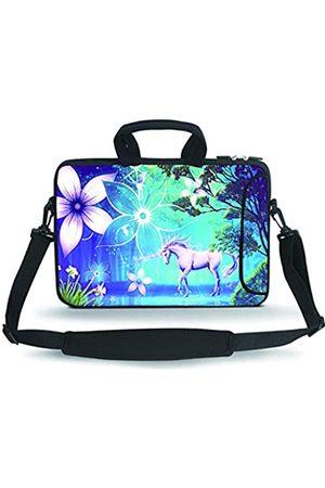 "HAPLIVES 14-15.6"" Neoprene Sleeve Notebook Messenger Case Tote Bag(Cute Unicorn)"