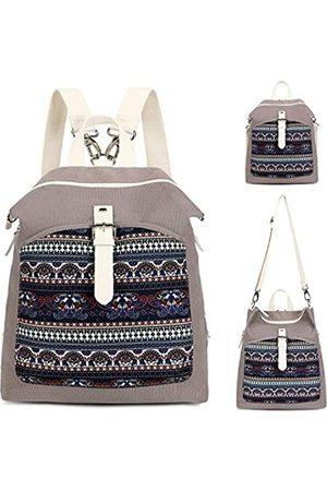 CAMTOP Backpack Purse Women Ladies Fashion Casual Lightweight Shoulder Bag Travel Daypack (T29 Navy Blue Boho-Gray)