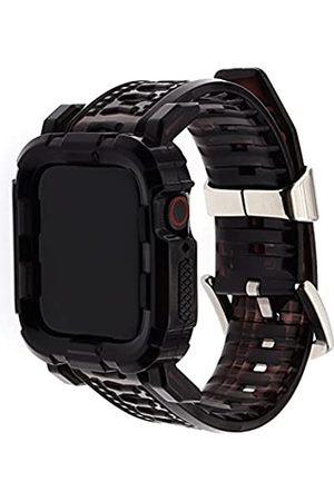 Acyan Kompatibel mit Apple Watch Band 38 mm/42 mm/40 mm/44 mm mit Hülle, Sportarmband mit Bumper Case für iWatch 6/5/4/3/2/1/SE (Kristallschwarz