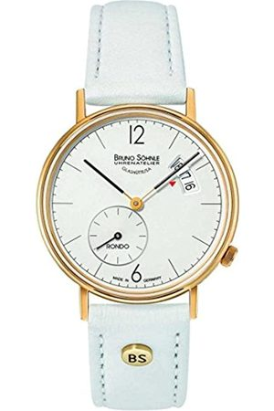Soehnle Damen Uhren - Bruno Söhnle Damen Analog Quarz Uhr mit Leder Armband 17-33192-263