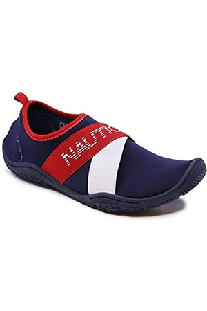 Nautica Women's Rawan Athletic Water Shoes Barefoot Beach Sports Summer Shoe-Red White Blue-11