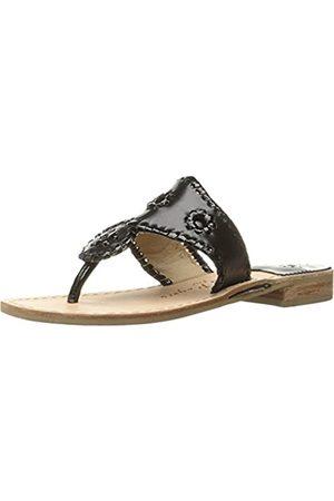 Jack Rogers Damen Sandalen - Jacks Flache Sandale, / Patent, (Schwarzes Lack.)