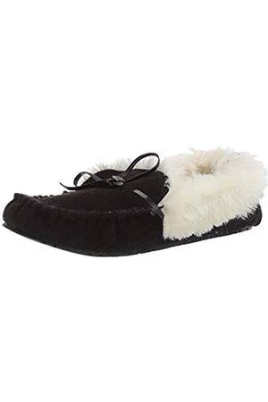 Rampage Damen Hausschuhe - Damen Women Cersie Faux Fur Lined Moccasin Slipper