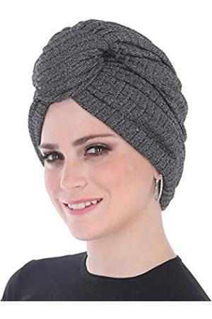 Madison Headwear Turban Headwraps für Frauen mit afrikanischem Knoten & gewebtem Lurexfaden für extra Glimmer und Komfort für Krebs - - Large