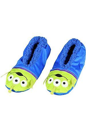 Bioworld Disney Toy Story Aliens Little Green Men Character Slipper Socks with No-Slip Sole For Women Men (Small)