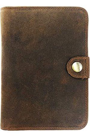 AurDo Reisepasshülle aus echtem Leder, RFID-blockierend, zweifach faltbar