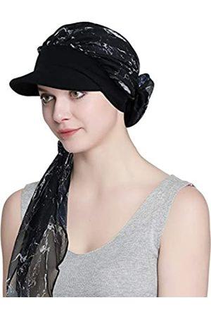 Alnorm Chemohüte und -schals für Frauen Slouchy Mütze mit Krempe
