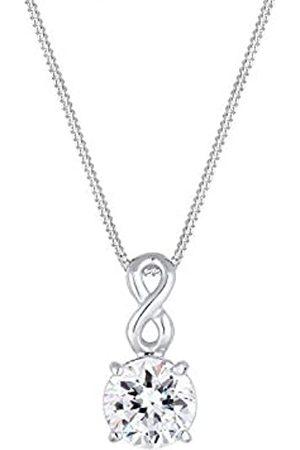 Elli Halskette Damen Infinity Anhänger Verspielt mit Kristall aus 925 Sterling