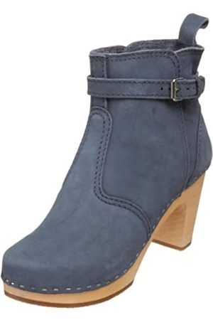 Swedish Hasbeens Damen Pumps - Damen High Heels Johdpur Boots, (dunkelblau)