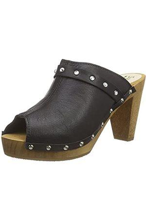 Sanita Damen Clogs & Pantoletten - Damen Polly Plateau Sandal Clogs, (Black 2)