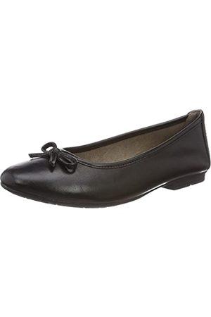 Soft Line Damen Ballerinas - Damen 22163 Geschlossene Ballerinas, (black nappa)