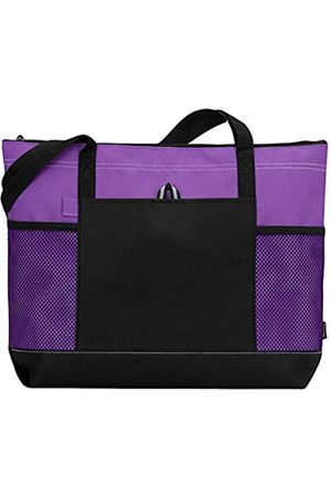 Leadoff Gemline Select Zippered Tote - Purple (One)