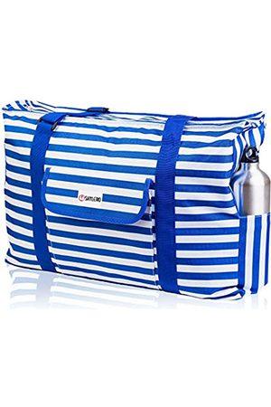 SHYLERO Strand- und Pooltasche XL – wasserdicht (IP64) – L22 x H15 x B6 – riesige Reißverschluss-Innentasche – 4 Außentaschen – Reißverschluss oben