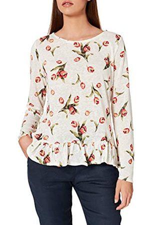 Springfield Damen Camiseta Estampada Bajo Volante Unterhemd