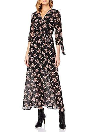 Mela Damen London-Rose Printed TIE Sleeve Maxi Dress Lssiges Kleid