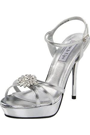 Touch Ups Damen Sandalen - Katie Plateau-Sandale für Damen, (Silberfarben metallisch)