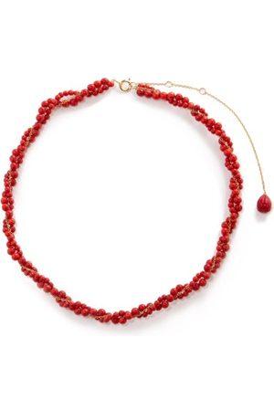 Yvonne Léon Coral & 18kt Beaded Necklace