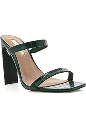 Billini Damen Sandalen - Damen Dana Rechteckige Sandalen mit offenem Zehenbereich, Grn (Grünes Krokodil)