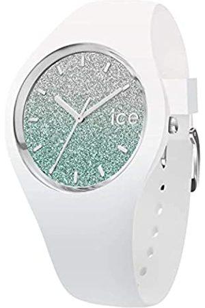 Ice-Watch Damen Uhren - ICE lo White turquoise -e Damenuhr mit Silikonarmband - 013430 (Medium)