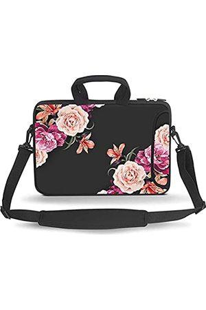 HAPPYLIVE SHOPPING Laptop- & Aktentaschen - 14 15 15.4 15.6 inch Laptop Shoulder Bag Messenger Bag Case Notebook Handle Sleeve Neoprene Soft Carrying Tablet Travel Case with Adjustable Shoulder Strap & External Side Pocket