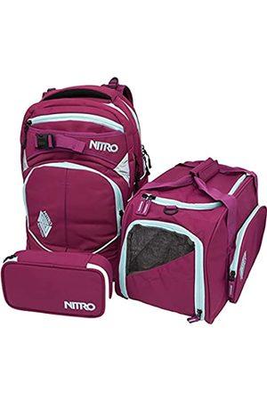 Nitro Superhero, Schulrucksackset, Rucksack, Backpack, abnehmbarer Hüftgurt, robuste Bodenplatte, Thermotasche, Laptopfach