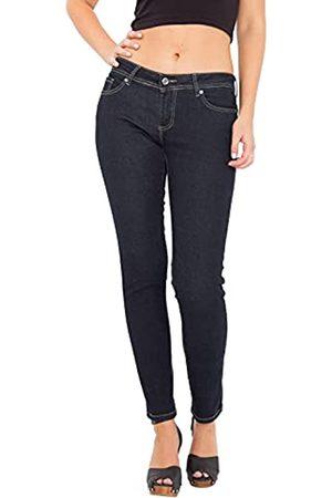 Way Of Glory Damen Jeans Slim Fit & Narrow Leg Rinse Wash Katy Casualmode 5 Pocket Jeans Regular Fit Unifarben Katy