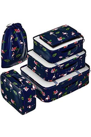 EVEK Kompressions-Verpackungswürfel-Set für Koffer, Gepäck-Organizer, Wochenend-Reisezubehör, klassisches und elegantes Design