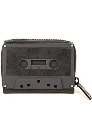 Fydelity Kassettenband-Geldbörse, klassische Kassetten-Geldbörse, Münzetui, Retro, ( matt Staubwedel )