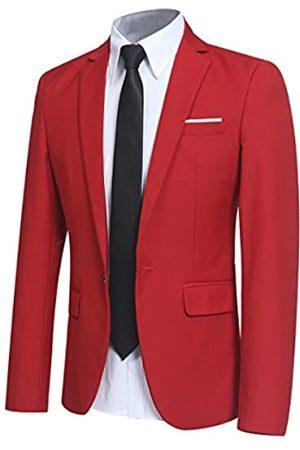 YFFUSHI Herren-Blazer mit enger Passform und einem Knopf, Jacke für Partys