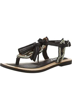 Bronx Damen Sandalen - BiksaX, Damen Knöchelriemchen Sandalen, (797 Black/bronze)