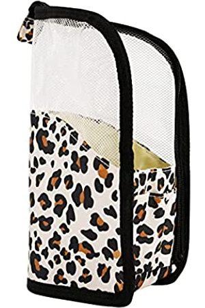 GERINLY Mesh Tragbare Kosmetiktasche Reisetasche Wasserdicht Kulturbeutel für Frauen Reißverschluss Transparent Aufbewahrungstasche