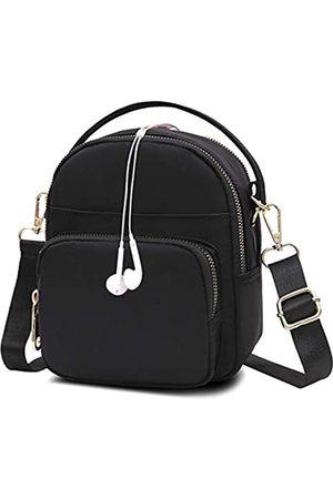 Semikk Damen Reisetaschen - Kleine Umhängetasche für Frauen, Handytasche, Umhängetasche, Mini-Reise-Nylon-Umhängetasche, mehrere Reißverschlusstaschen., (Aa1 )