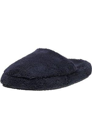 Dearfoams Damen Halbschuhe - Damen MicroTerry Clog Slipper, Blau (Cadet Marineblau)