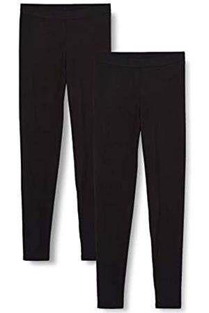 IRIS & LILLY Damen Extrawarmes Thermo-Unterhemd mit Langen Ärmeln, 2er-Pack (Black), M
