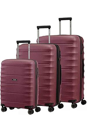 Titan 4-Rad Koffer Set Größen L/M/S mit TSA Schloss, Bordtrolley erfüllt IATA-Bordgepäckmaß, Gepäck Serie HIGHLIGHT: Hartschalen Trolleys im Carbon Look