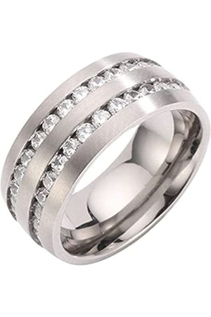 Renato Fellini Damen-Ring Titan mattiert Zirkonia weiß Brillantschliff Gr. 53 (16.9) - HEJTR-9973 18