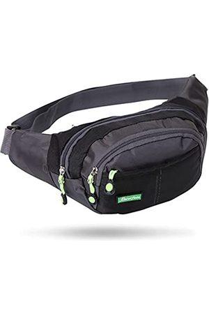 Xuuza Workout-Hüfttasche, Laufgürtel, Bauchtasche für Sport, Reisen, leicht, freihändig, Geldbörse, Crossbody-Tasche, verstellbarer Riemen