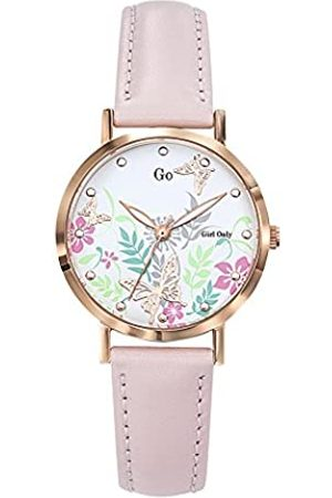 GO Girl Only Damen Uhren - Damen Analog Quarz Uhr mit Leder Armband 699179