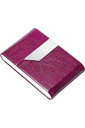 padike Professioneller Visitenkartenhalter Visitenkartenetui Luxus PU Leder & Edelstahl Kartenhalter Kreditkartenetui Halten Visitenkarten in makellosem Zustand (W-Lila)