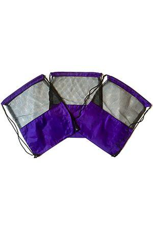 TheAwristocrat 3 Stück Nylon Kordelzug Rucksäcke Sackpack Tote Cinch Gym Bag – verschiedene Farben (Violett) - TA-DSB