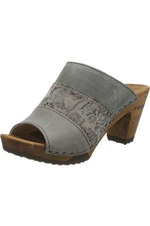 Woody Damen Clogs & Pantoletten - Damen Ella Pantoletten, Mehrfarbig (Jeans-Graphite-Jeans 101)