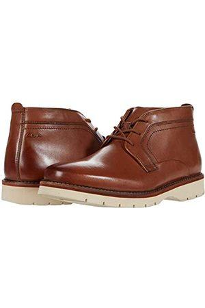 Clarks Herren Men's Bayhill Mid-Dark Tan Leather-10M Chukka-Stiefel