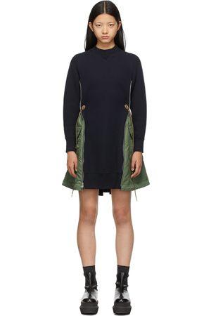 SACAI & Khaki Sponge Sweat X MA-1 Dress
