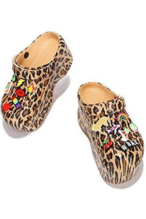 Cape Robbin Damen Sneakers - Gardener Plattform-Clogs für Damen, Damenmode, bequeme Slip-On-Schuhe, (leopard)